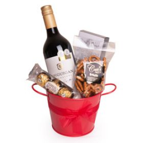 Bucket of Red Wine Gift Hamper
