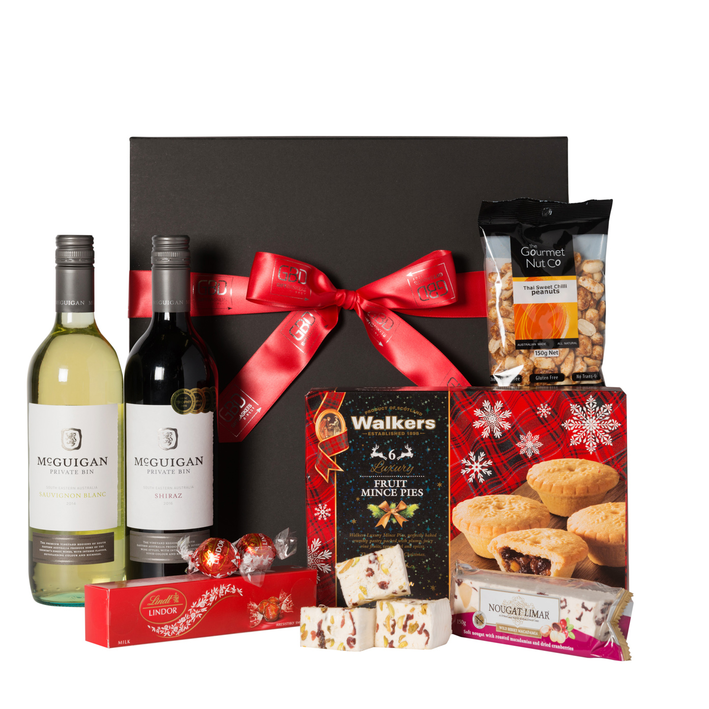Red and white christmas delight gift baskets direct negle Choice Image